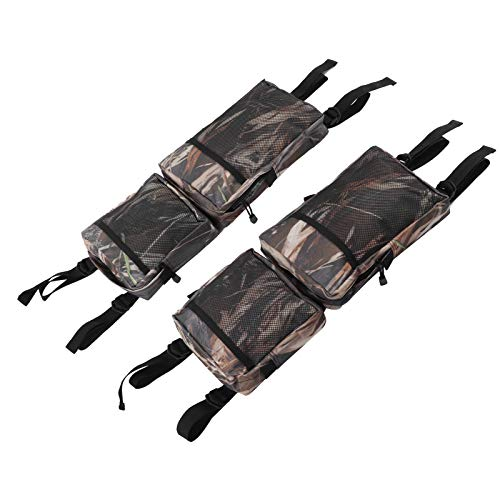 Q-HL Bike Bag 2Pcs Snowmobile Rear Rack Carry Bag ATV All Terrain Vehicle UTV Package - Camouflage
