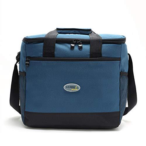 YQ&TL Paquete de aislamiento 16L Paquete de hielo de picnic Picnic Paquete de refrigerante de tela Oxford Bolsa de almuerzo verde Papel de aluminio Bolsa de aislamiento de Bento Capacidad, azul marino