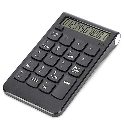 Teclado numérico inalámbrico de 20 Teclas, Teclado numérico ultradelgado portátil de 2.4G, Teclado Digital de Contabilidad USB para computadora portátil, computadora de Escritorio(Negro)