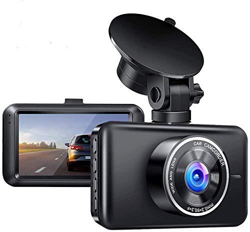 3' Cámara de Coche, Cámara de Coche Retrovisor para Automóviles 1080P Full HD 140° Gran Angular, Monitor Aparcamiento, Grabación Bucle, Pantalla LCD, G-Sensor