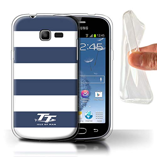 Isle of Man TT STUFF4 Phone Case/Cover/Skin/SG-GC/Elegance Collection Samsung Galaxy Trend Lite/S7390 Blauwe zebra