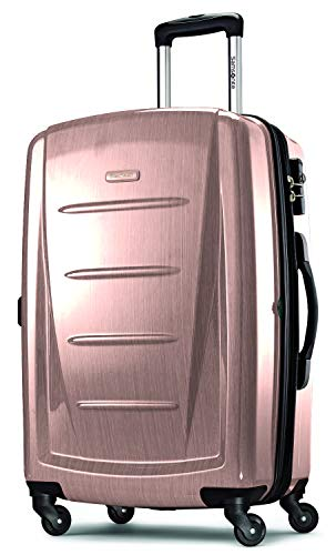 Samsonite Winfield 2 Hardside Expandable Luggage with Spinner Wheels, Artic Pink, Checked-Large 28-Inch