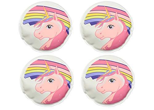 jameitop® 🌈🦄️ 4er Set Taschenwärmer Handwärmer Einhorn Unicorn - warme Finger, wiederverwendbar