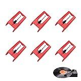 Demason 6 Pcs Aguja para Tocadiscos de Vinilo, Aguja de Diamante Rojo, Aguja Universal para Fonógrafo, Tocadiscos, Aguja de Plástico y Alumnio