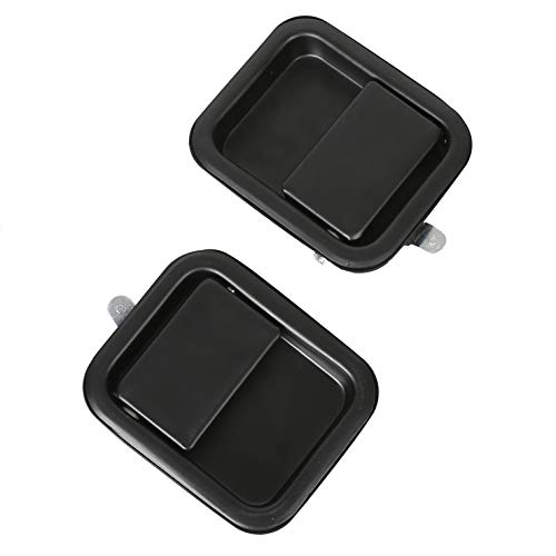 ECOTRIC Heavy Duty Metal Exterior Outside Door Handle Full Door For 1991-2006 Wrangler JEEP YJ TJ (Pair!!) Replacement for # CH1310131 CH1311131, 55176382AE, 55176383AE