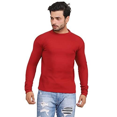 AIMS Casual Soild Winterwear Sweater for Men TeeNeck