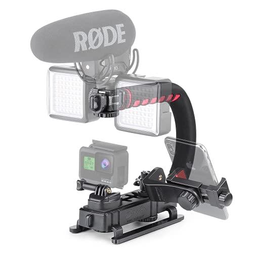 Zeadio Estabilizador portátil con 3 zócalo accesorio para Canon, Nikon, Pentax, SONY, Panasonic, Samsung y Olympus DSLR cámara videocámara