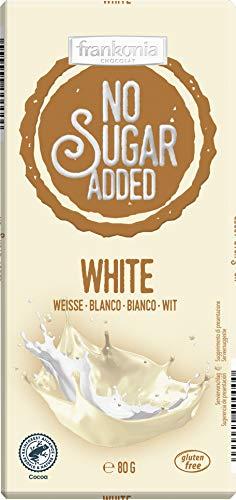 Frankonia Chocolat no Sugar Added Chocolate Blanco Sin Gluten, 80 G