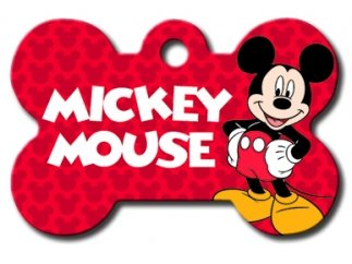 Disney Collection Licensed Personalized Custom Engraved Pet ID Tags! (Mickey Mouse Large Bone)