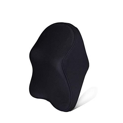 Reposacabezas para automóvil, reposacabezas con costura de tela negra, almohada para el cuello de espuma viscoelástica transpirable, cojín para el cuello para apoyar el reposacabezas del asiento