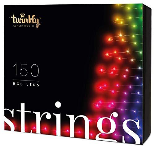 Stringa di luci controllabile tramite Smartphone con 150 LED RGB multicolore