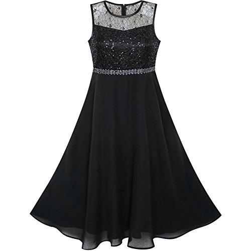 Sunny Fashion Vestido para nia Diamante de imitacin Gasa Dama de Honor Baile Pelota Maxi Vestido 10 aos