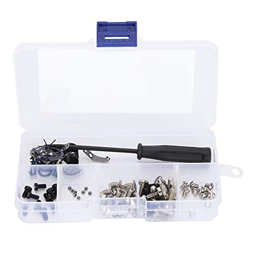 Tornillo de placa de aguja, la cantidad es diversa y suficiente El tornillo de coser contiene varios tipos de tornillos con caja de almacenamiento separada para coser