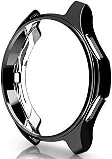 Black Case cover for samsung Gear S3 frontier/Galaxy Watch 46mm soft TPU plated All-Around protective cases shell frames 22mm