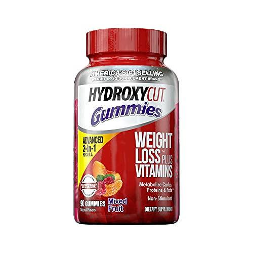Weight Loss Gummies | Hydroxycut Caffeine-Free Gummy Weight Loss for Women & Men | Non-Stim Weight Loss Supplement | Metabolism Booster for Weight Loss | Weightloss Supplements | 90 Count (Pack of 1)
