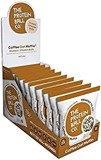 The Protein Ball Co. Breakfast To Go Protein and Vitamin Coffee Oat Muffin Protein Balls (Pack of 10), 450 g