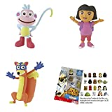 Lote 3 Figuras Comansi Dora Exploradora - Dora - Botas - Swipper + Regalo