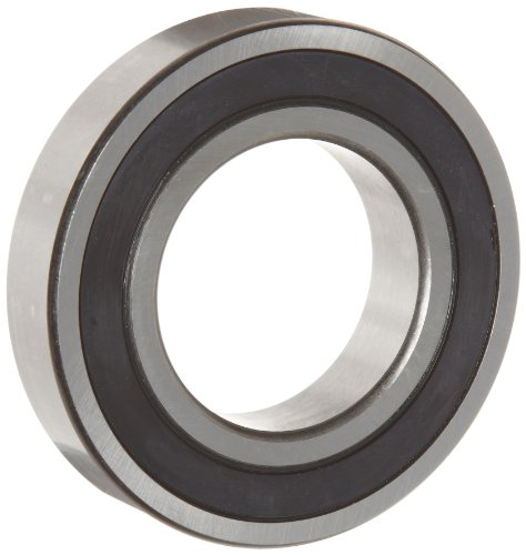 WJB 6202-16-2RS Deep Groove Ball Bearing, Double Sealed, Metric, 16mm ID, 35mm OD, 11mm Width, 1740lbf Dynamic Load Capacity, 805lbf Static Load Capacity
