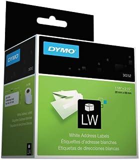 "DYMO LW 邮寄地址标签打印机,白色,3.49cm x 8.89cm,2 卷 350 (30252) 1 1/8"" x 3 1/2"" 8 Rolls"