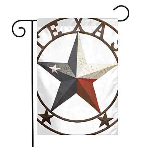 N / A Western Texas Star Home Garden Flag Vertical Primavera Verano Decorativo Rústico/Casa de Campo Pequeña decoración Patio Conjunto de Banderas para decoración Interior y Exterior