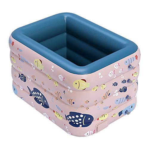 Susue Safe PVC Cartoon Animales Niños Piscina Dry Piscina Infantil Tanque Inflable Exterior Indoor Toy 29.52*59.05*82.67 ZOLL Rosa.