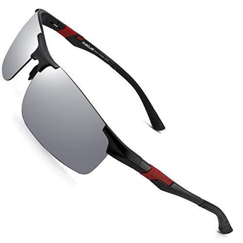 Heren rijden zonnebril Gepolariseerde sport zonnebril Al-Mg metalen frame fietsen vissen golfbril