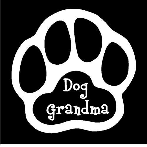 Empty 15,2 cm * 15,2 cm hond oma poot druk plezier unieke vinyl grafisch sticker auto styling decoratie zwart splinter zilver