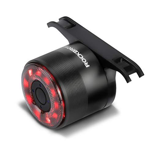 ROCKBROS Rear Bike Light Bicycle Tail Light Rechargeable Rear Bike Light Waterproof Bike Taillight