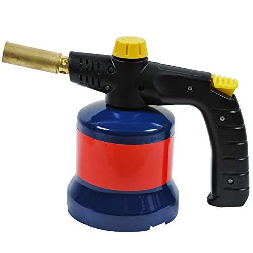 HELO Gas Lötlampe mit stufenloser Flammenregelung, STANDARD ergonomischem Handgriff und einer Nennleistung von 1.70 KW, handlicher und kompakter Lötbrenner für Butangas Stechkartuschen