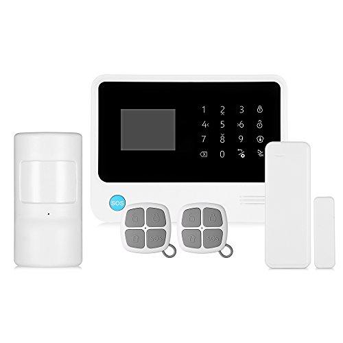 EbuyChX GS - G90B Plus gsm WiFi/GPRS/SMS 2.5 Inch LED Touch Keypad Alarm S White and Black US Plug
