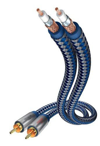 inakustik – 00404015 – Premium Stereo Audiokabel | Für kraftvollen und dynamischen Klang dank eines hohen Kupfergehaltes | 1,5m in Blau | 2-fache Abschirmung - Vollmetallstecker - moderner Geflechtschirm