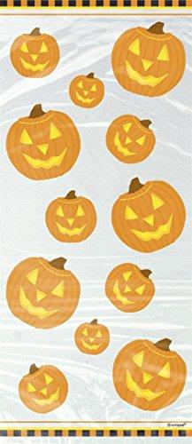 20 Sachets en Plastique Citrouille Halloween 28 x 13 cm