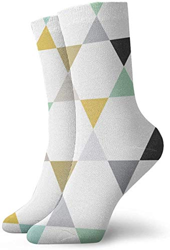 NA Hexagon Triangle Stars Socks Athletic Crew Socks Running Sport Tube Sock Soccer Sock for Men Women 30CM