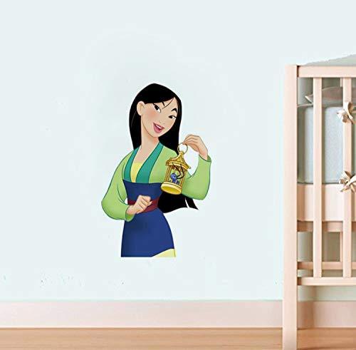 Heldinnen Helden im chinesischen Stil Prinzessin Fa Mulan Wand Vinyl Aufkleber Cartoon Walt Vinyl Poster Home Interior