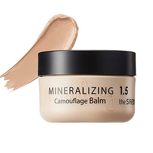 [the SAEM] Mineralizing Camouflage Balm 10g - Flawless Coverage, High Adherence Powerful Long Lasting Moisturizing Concealer, Blemish & Pore & Dark Circles Makeup (#1.5 Natural Beige)