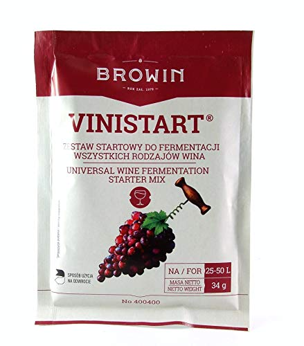 Wine Yeast Set 34g - VINISTART - Yeast + Nutrient + Vitamin B1 - Home Brew...
