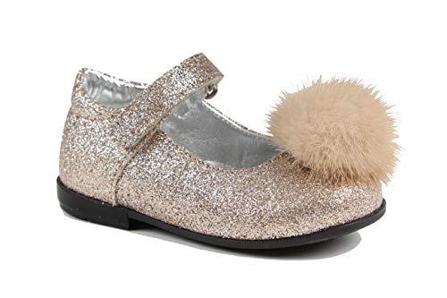 Monnalisa Junior Girl bailarina Glitter Mod. 8340014705G003 Oro niña mod. 8340014705 Dorado Size: 24 EU