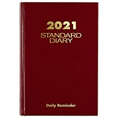 YEAR-ROUND PLANNING – Small diary covers 12 months from January 2021-December 2021 Keep track of important deadlines special events and more with clear organization and professional style INK BLEED RESISTANCE – Plan your schedule without fear of dist...