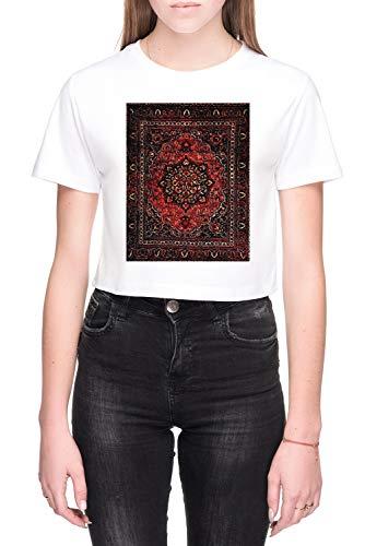Perzisch Tapijt Kijken In Roos Dames Crop T-Shirt Wit Women's Crop T-Shirt White