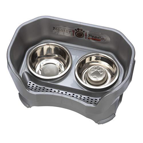 Neater Feeder Deluxe Dog (Medium + Slow Feed Bowl Combo, Gunmetal Grey)