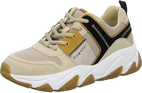 bugatti Damen 432846075569 Sneaker, Beige/Yellow, 39 EU