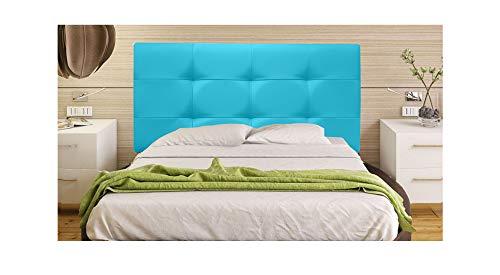 ONEK-DECCO Cabecero Mod. Big Tennessee tapizado en Polipiel de Dormitorio Medidas cabecero de Cama niño, Juvenil y Matrimonio Cabezal, tapizado, Acolchado (180x70, Turquesa)