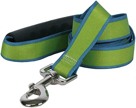 Yellow Dog Design Sterling Stripes Spring Green Teal Dog Leash with Comfort Grip Handle