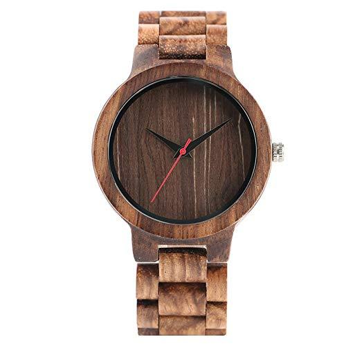 Relojes de Madera para HombreDialReloj Deportivo de Madera Completo B