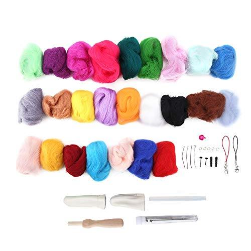 Rostschutzfilzmaterialien, Filzset, Kleidung für die Herstellung von Schmucktrocknerbällen Professioneller Gebrauch Anfänger Schlüsselring Bastelmatte Puppe