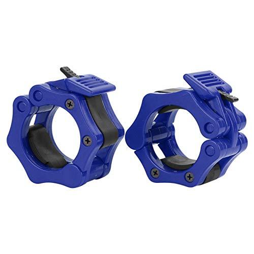 Shipenophy Abrazadera de bloqueo de mancuernas de plástico para hebilla de bloqueo rápido para levantamiento de pesas para mancuernas (azul)