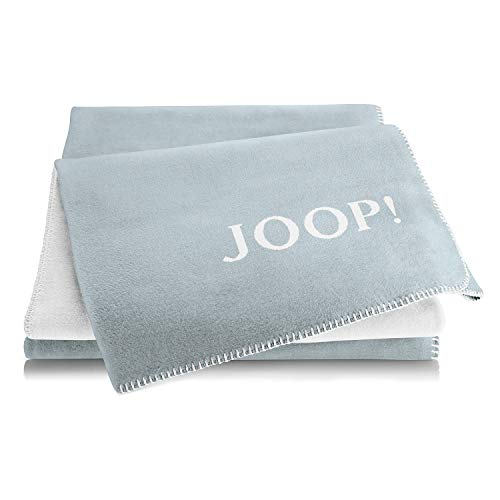 Joop! Wohndecke Uni-Doubleface Baumwollmischung bleu Größe 150x200 cm