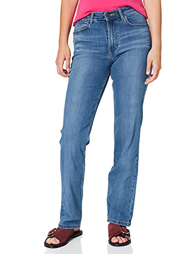 Wrangler High Rise Straight Jeans, Rocky, 36W / 32L para Mujer