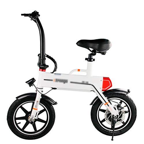 Pieghevole Bicicletta elettrica Pieghevole Auto Ultra Leggera Piccola Bicicletta Mini Scooter a Due Ruote Batteria al Litio Auto per Adulti, la più Alta capacità di carico 120KG