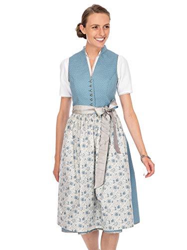 Stockerpoint Damen Natalia Dirndl, Mehrfarbig (Rauchblau Rauchblau), (Herstellergröße: 40)